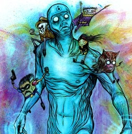 Emaciated Dr. Manhattan Art Finds An Appropriate Home