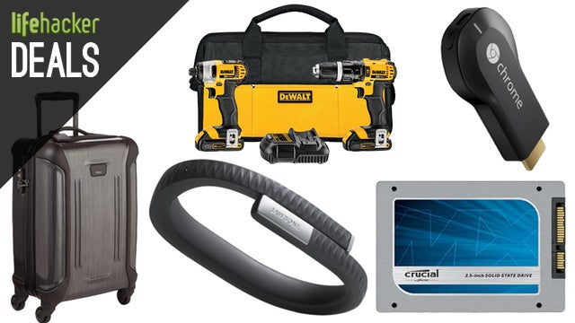 Chromecast $5 Off, DEWALT Bundles, Dell Monitors, Awesome Carry-Ons