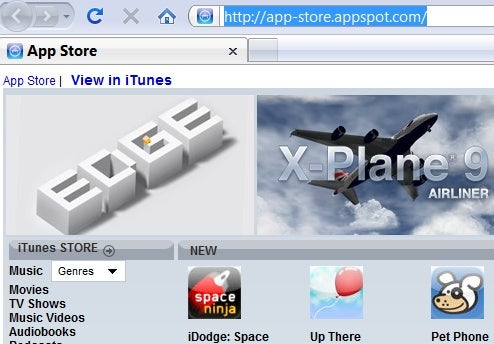 App Store Browses the iTunes Store Without iTunes