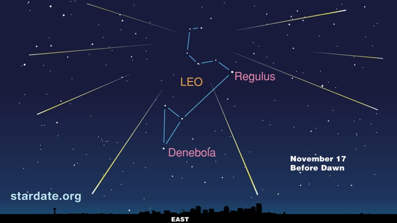 Everything you need to know to catch tonight's Leonid meteor shower