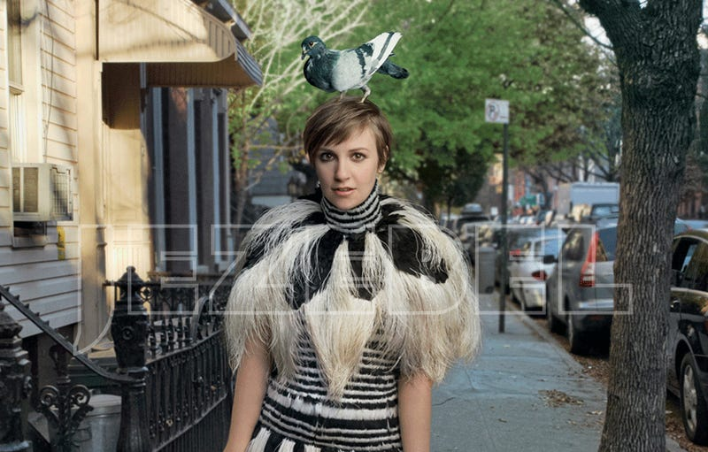 Here Are the Unretouched Images From Lena Dunham's Vogue Shoot