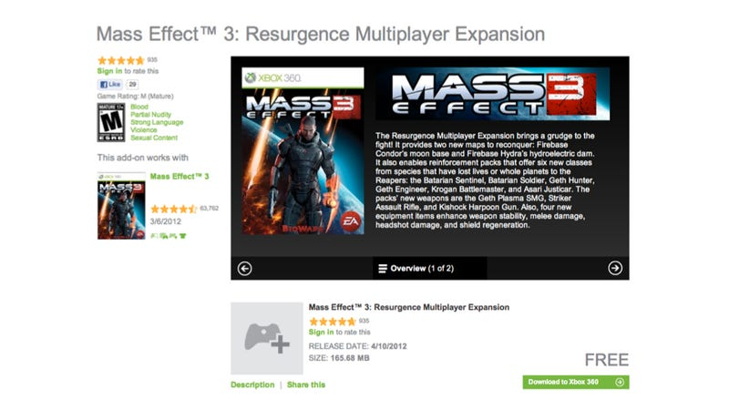 Free Mass Effect 3 DLC Accidentally Goes On Sale For $4