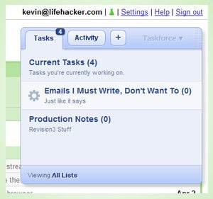 Taskforce Adds Lists and Upgrades Its Gmail Task Management