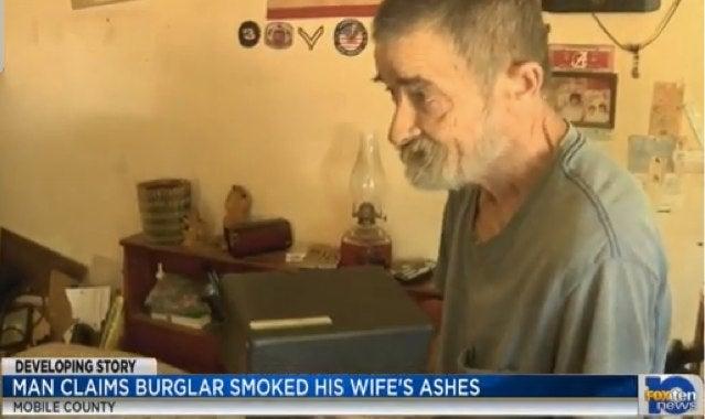 Vietnam Vet Says Burglars Smoked His Dead Wife's Ashes