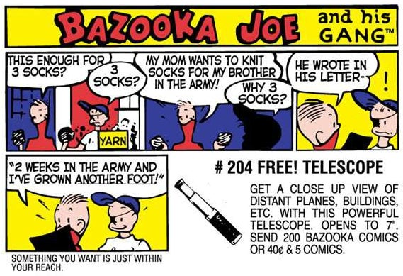 After Nearly 60 Years, Bazooka Gum Is Killing Its Iconic Comic Strip
