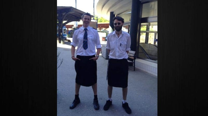 Male Swedish Train Drivers Wearing Skirts To Work