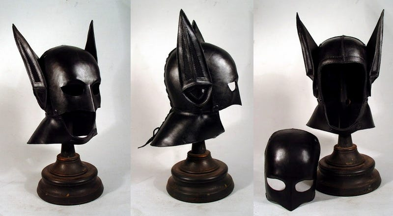 Behold a Batman helmet right out of the 1920s