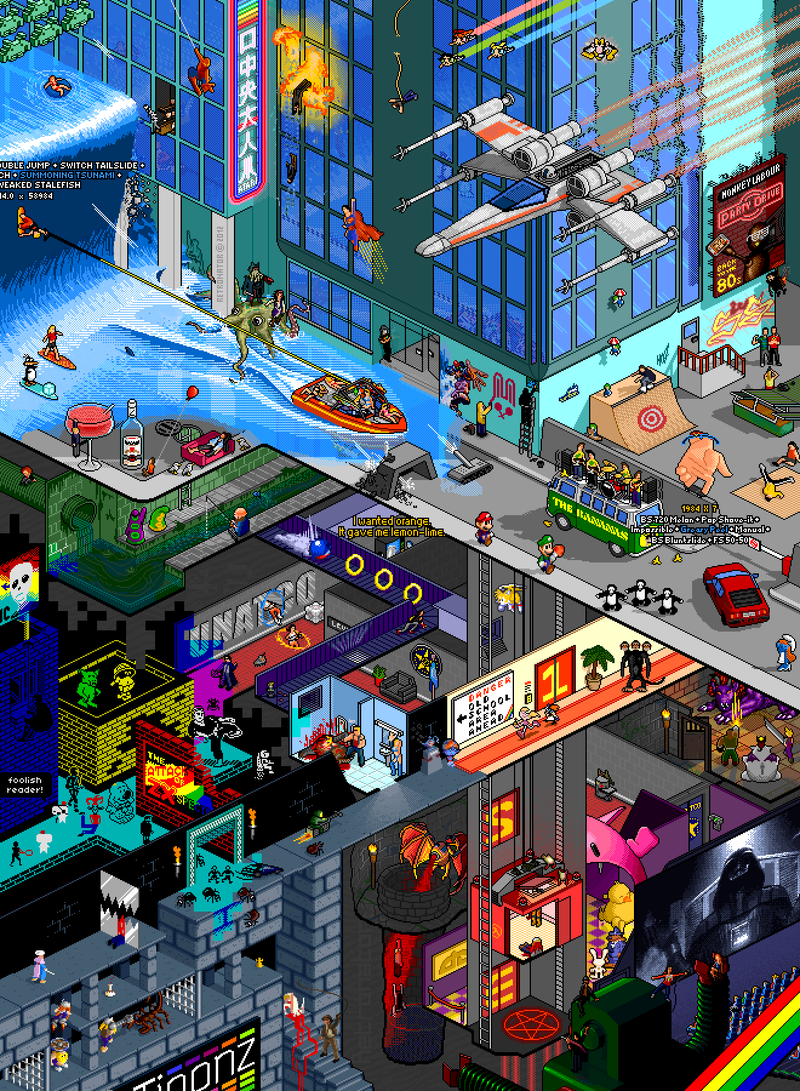 An Incredible Pixel Tribute to Video Games