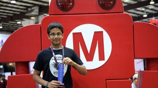 Braigo Creator Shubham Banerjee receives Editor's Choice Blue Ribbon at Bay Area Maker Faire 2014