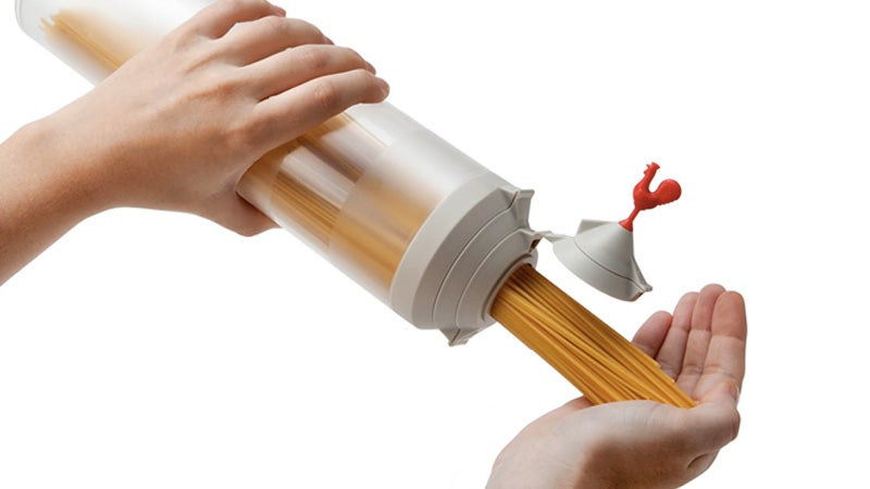 Multi-Hinged Cap Always Pours the Perfect Pasta Portion