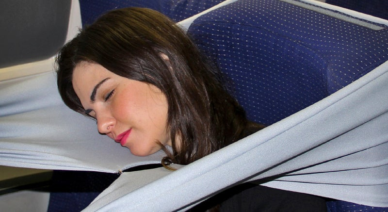 A Giant Elastic Band Could Let You Hide From Your Seatmates in Coach