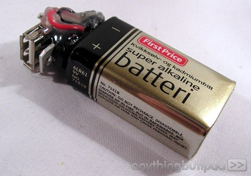 DIY 9V Battery-Powered USB Charger