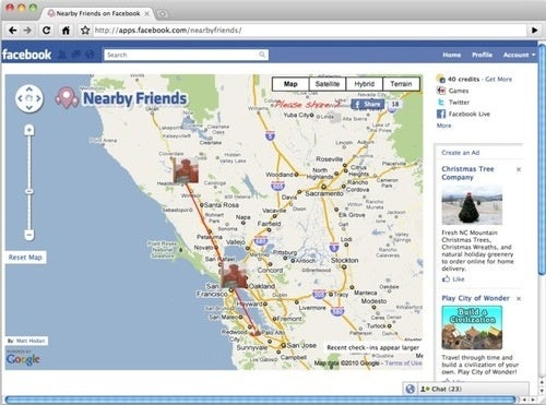Mapping Your Pals With Nearby Friends: Creepy or Fair Game?