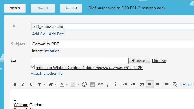 Zamzar Converts Images, Documents, and Other Files Directly Over Email