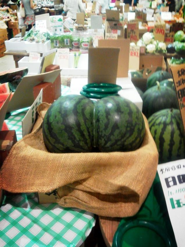 Check Out the Sexy Butt on These Watermelons