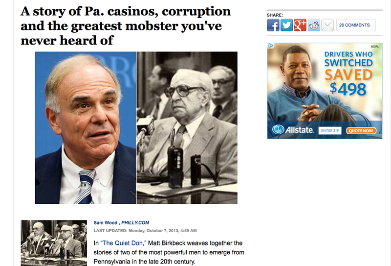 Philly Inquirer Editor Fired Same Day Paper Ties Ed Rendell to the Mob (Updated)