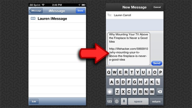 Send Links to Friends In Three Taps with Launch Center Pro