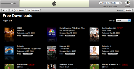 Download free videos from iTunes