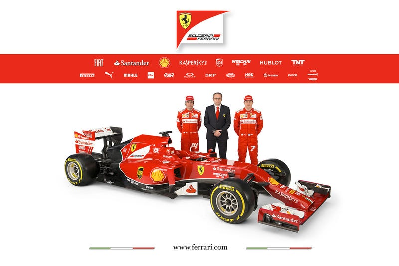 All The Official Images Of The New Ferrari F14T.