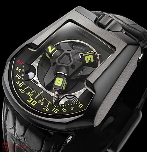 UR-202 Wristwatch Features Winding System Regulated By Compressed Air