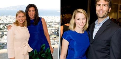 Who wore it better, Googler Marissa Mayer or socialite Sloan Barnett?