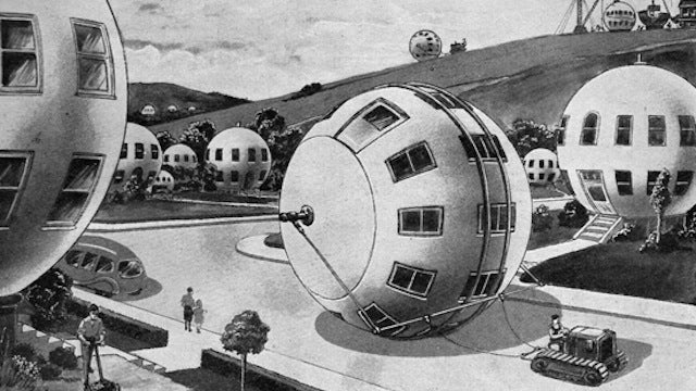 These giant hamster balls could have been the mobile homes of the future