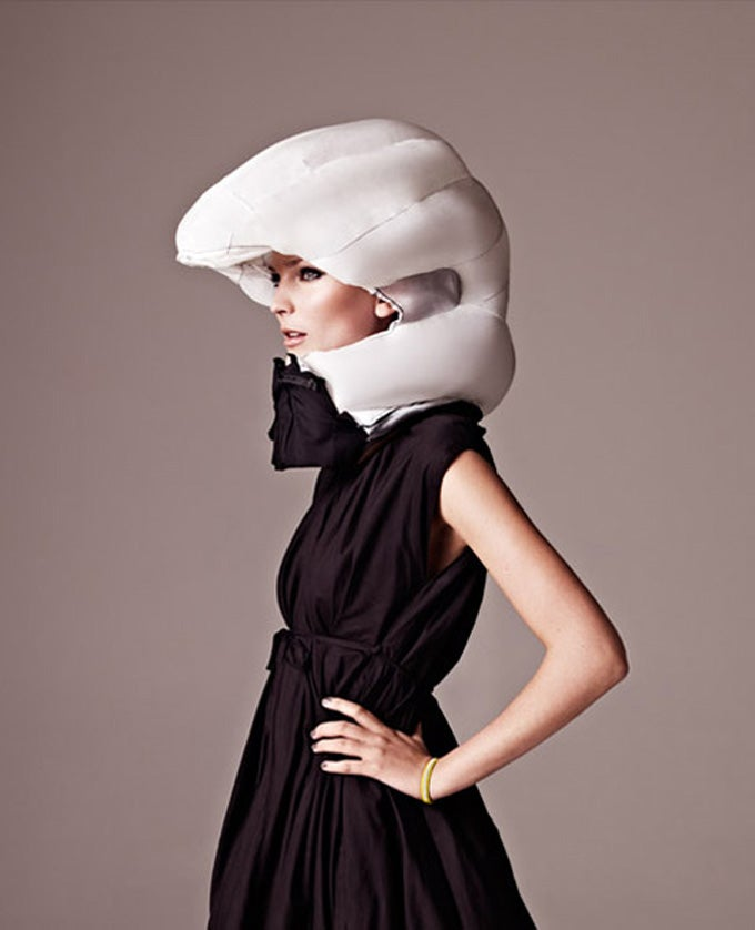 The Ridiculous High-Concept Inflatable Bike Helmet Is Finally Buyable
