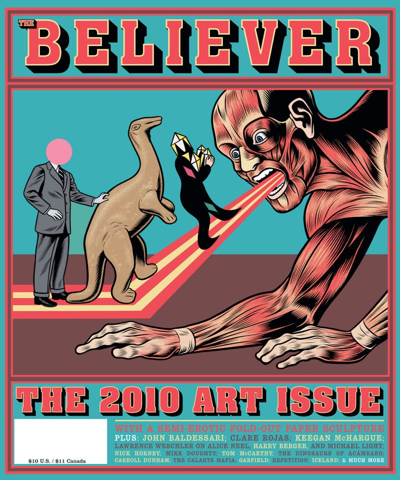 Charles Burns' Disturbing, Thrilling Cover for The Believer's Art Issue