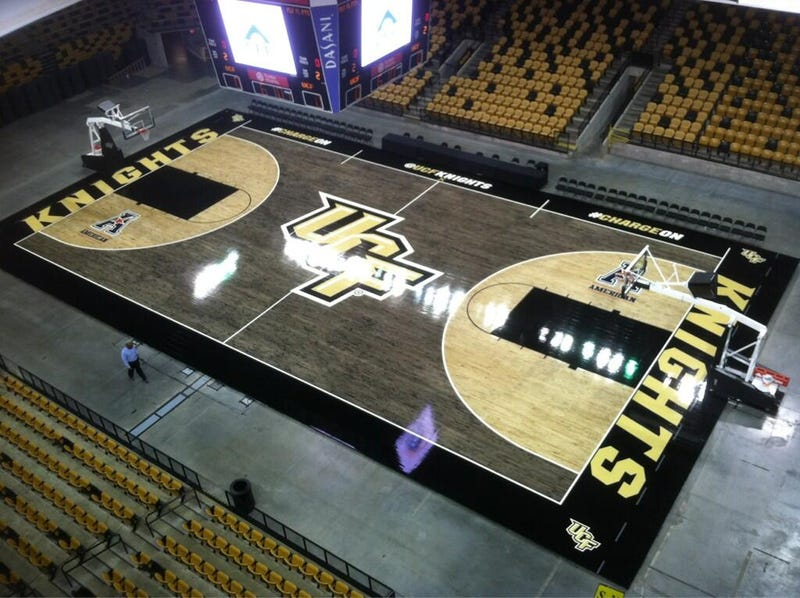 UCF Unveils Striking New Black-Stained Court