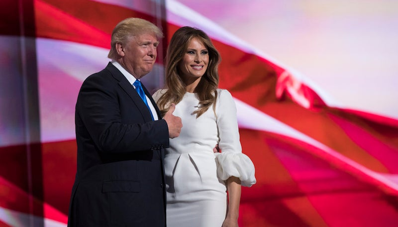 Trump Campaign Says Melania Wrote All the Words She Plagiarized From Michelle Obama