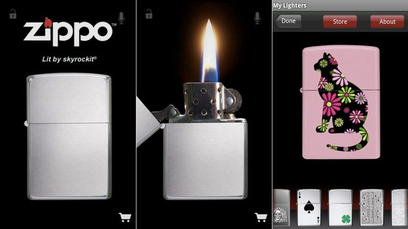 Use Android's Official Zippo Lighter App to Participate in a Strange, Ancient Concert Ritual