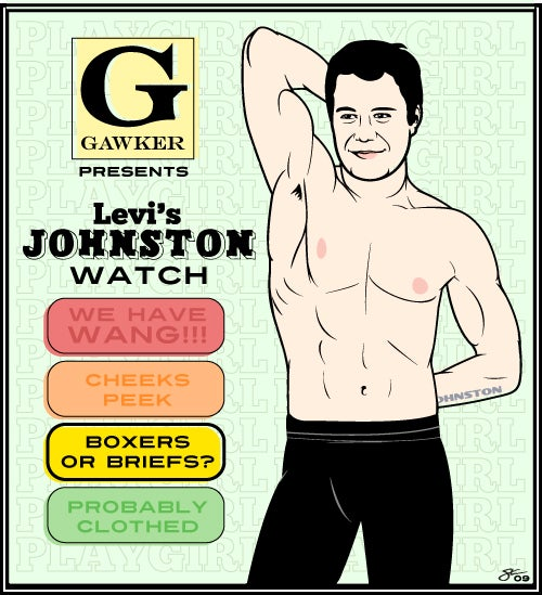 The Johnston Watch: Tracking How Much Levi Will Unzip for Playgirl