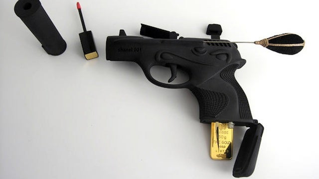 This Gun Packs All the Make Up a Sexy Assassin Needs...and a Viagra Pill