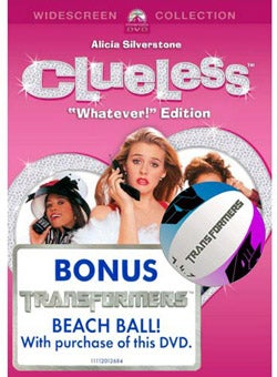 Weird Combo of the Day: Clueless DVD With Free Transformers Beach Ball