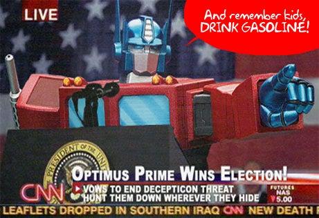 14-yo Boy Drinks Gasoline to be like Optimus Prime