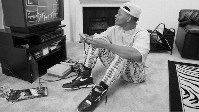 Will Smith in High-Tops Playing an NES