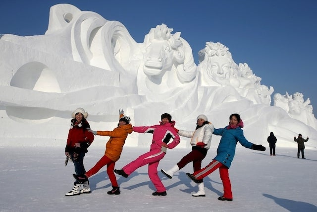 China's winter wonderland is filled with incredible ice sculptures