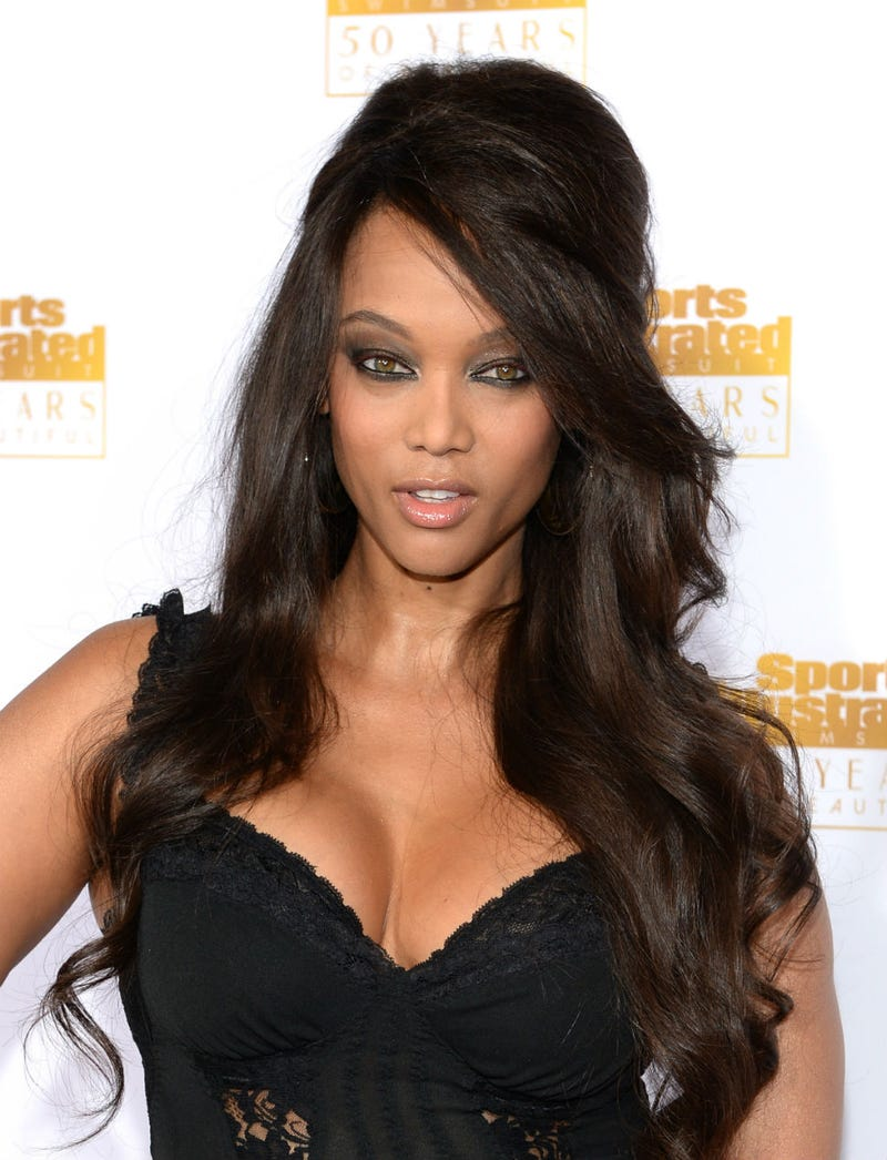 Tyra Banks Smized Her Way Into This Gorgeous Little Black Dress