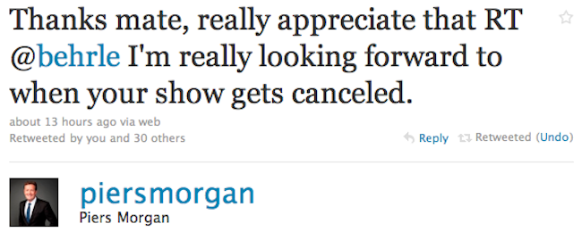CNN's Piers Morgan Will Fight Almost Anyone on Twitter