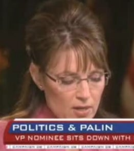 Did Palin Have Cheat Sheet During Couric Interview?