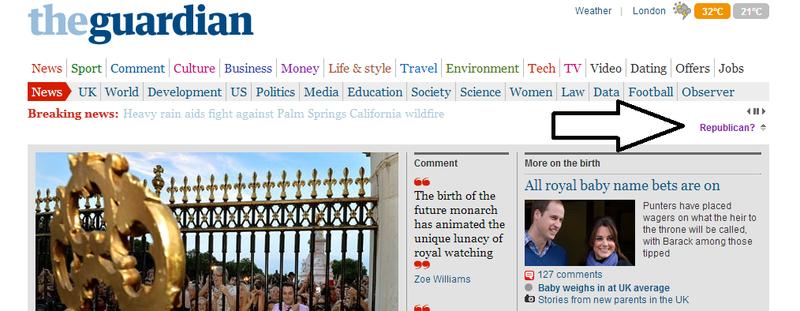 The Guardian Website runs Republican edition
