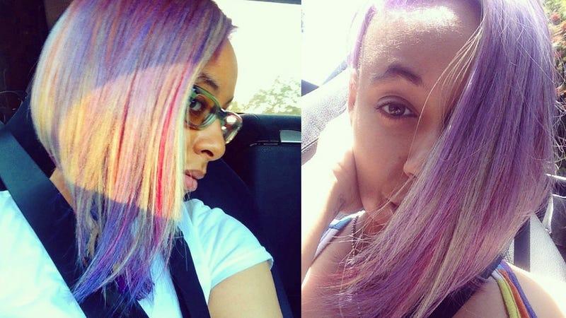 Raven-Symoné Got an Amazing New Rainbow Haircut