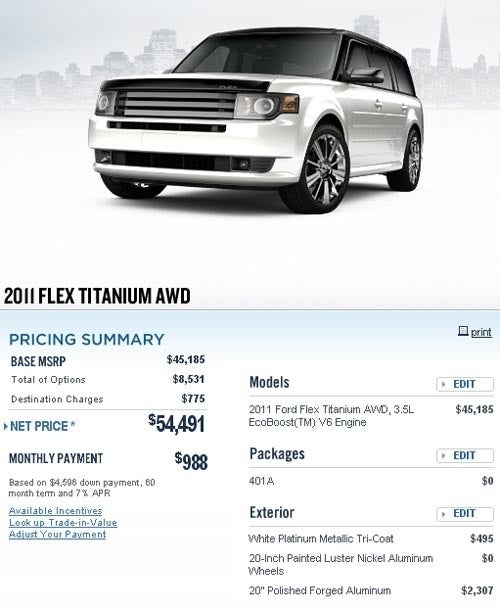 A Ford Flex Costs How Much?