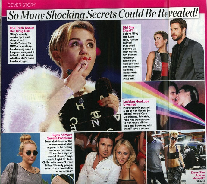 This Week in Tabloids: Miley Cyrus Partakes in Secret Lesbian Trysts