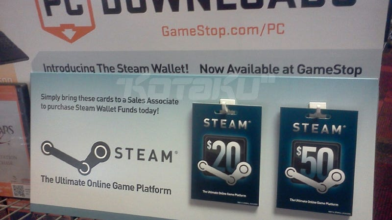 Sure Looks Like Steam Wallet Cards Are Coming to GameStop This Week [Update]