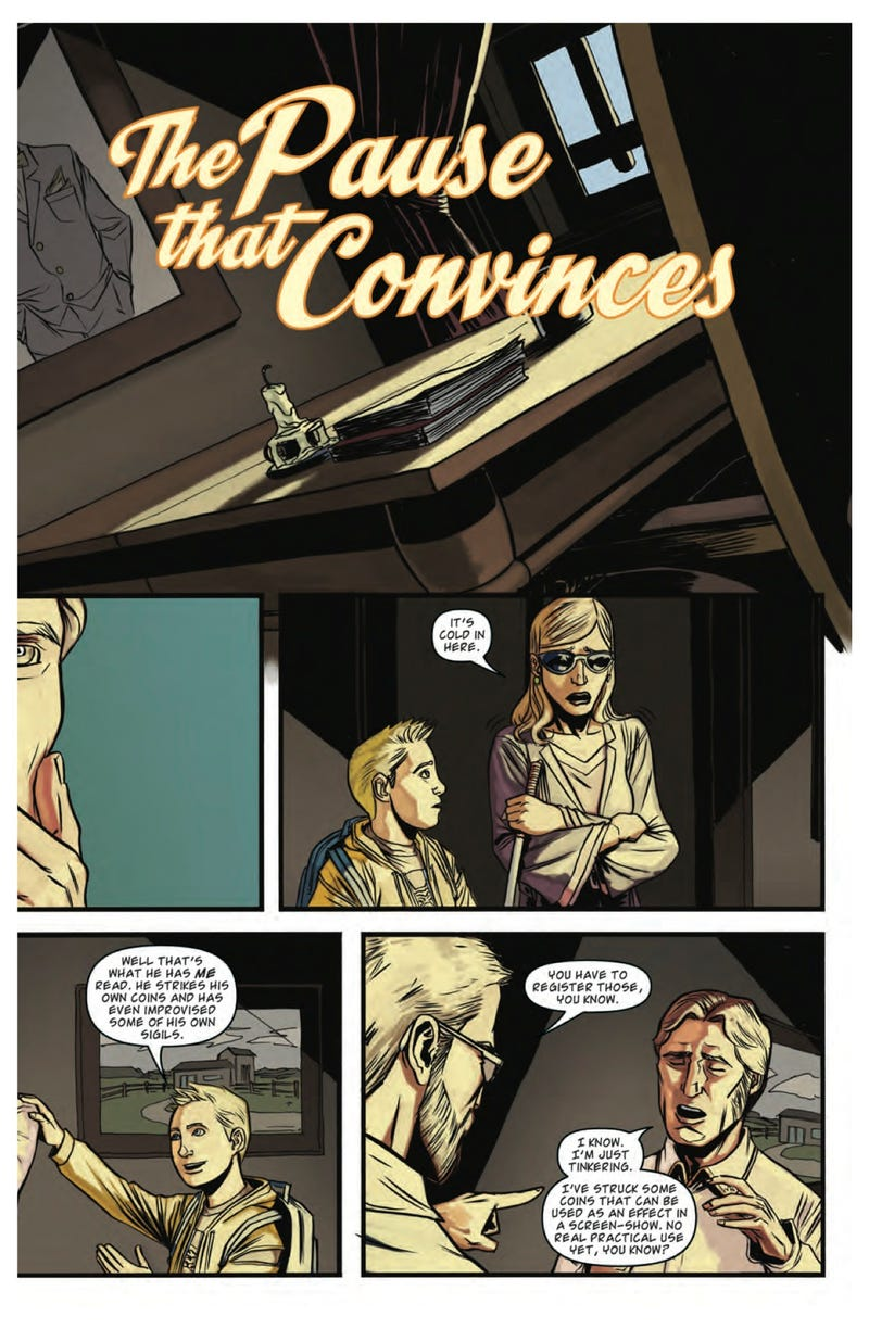 Read a sneak preview of the fantasy comic Smoke and Mirrors