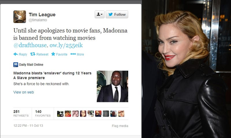 Movie Theater Bans Madonna for Texting During Film, Refusing to Stop