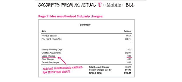 FTC: T-Mobile Took Hundreds of Millions of Bogus Charges on Phone Bills
