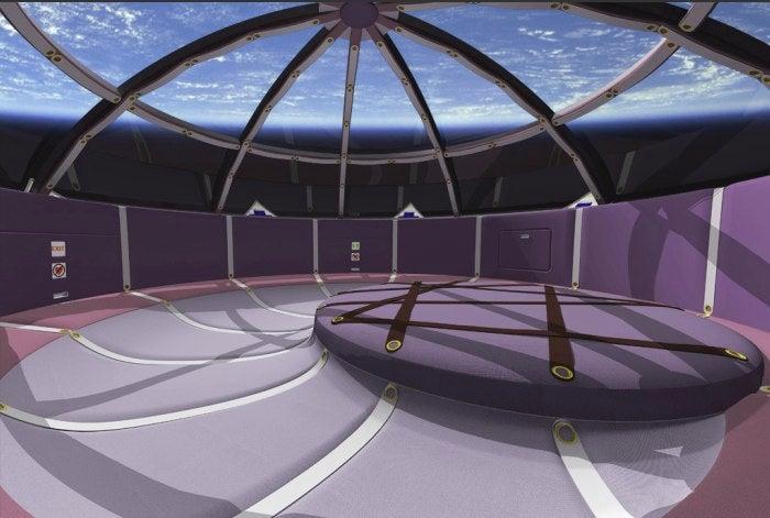Airbus interior designer creates Space Shuttle for honeymooners