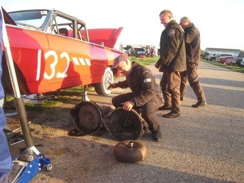 Police Brutality '63 T-Bird Nukes Transmission, Team Not Fazed